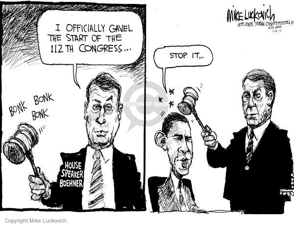 Mike Luckovich  Mike Luckovich's Editorial Cartoons 2011-01-04 congressional leadership