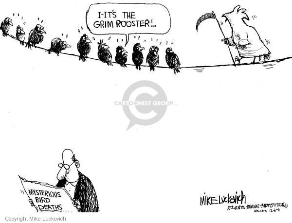 Mike Luckovich  Mike Luckovich's Editorial Cartoons 2011-01-06 death