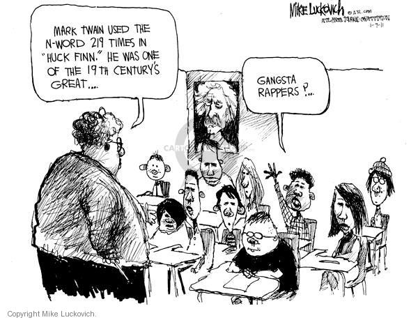 Cartoonist Mike Luckovich  Mike Luckovich's Editorial Cartoons 2011-01-07 racial