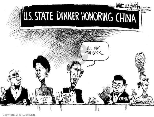 Mike Luckovich  Mike Luckovich's Editorial Cartoons 2011-01-18 Chinese President