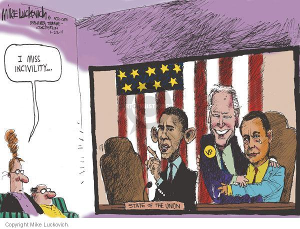 Mike Luckovich  Mike Luckovich's Editorial Cartoons 2011-01-23 Obama Boehner