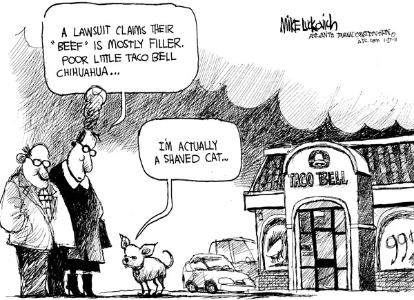 Cartoonist Mike Luckovich  Mike Luckovich's Editorial Cartoons 2011-01-27 claim