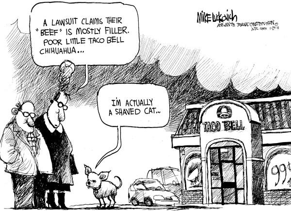 Cartoonist Mike Luckovich  Mike Luckovich's Editorial Cartoons 2011-01-27 claim