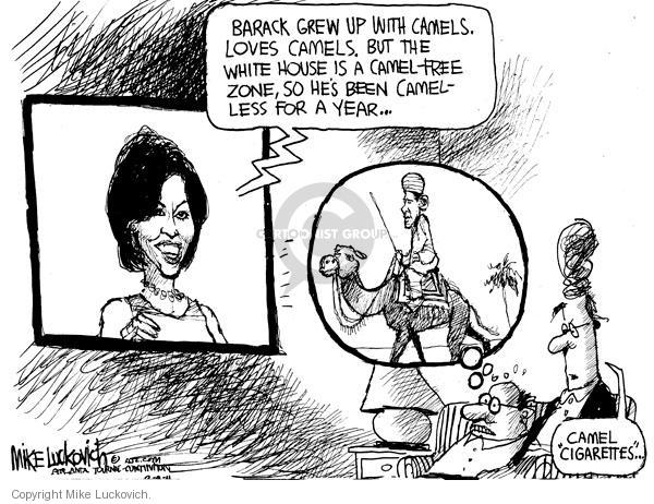Cartoonist Mike Luckovich  Mike Luckovich's Editorial Cartoons 2011-02-09 first lady