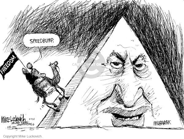 Mike Luckovich  Mike Luckovich's Editorial Cartoons 2011-02-11 pyramid