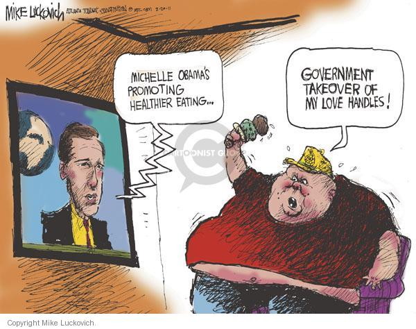 Cartoonist Mike Luckovich  Mike Luckovich's Editorial Cartoons 2011-02-20 first lady