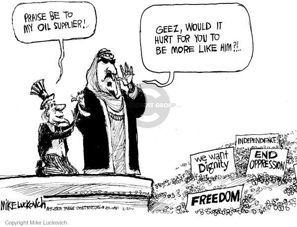Mike Luckovich  Mike Luckovich's Editorial Cartoons 2011-02-25 Middle East