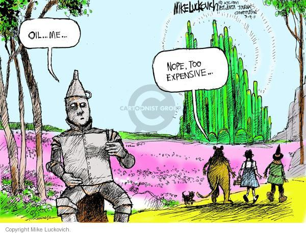 Cartoonist Mike Luckovich  Mike Luckovich's Editorial Cartoons 2011-03-09 cost