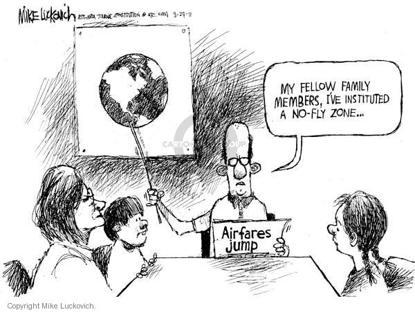 Cartoonist Mike Luckovich  Mike Luckovich's Editorial Cartoons 2011-03-24 family