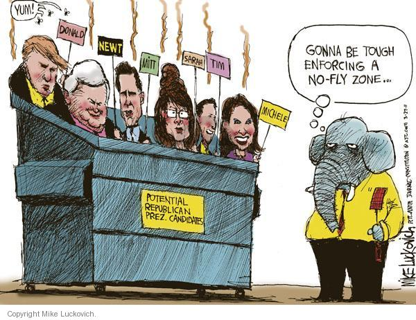 Mike Luckovich  Mike Luckovich's Editorial Cartoons 2011-03-27 gonna