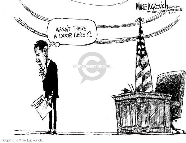 Mike Luckovich  Mike Luckovich's Editorial Cartoons 2011-03-31 Barack Obama