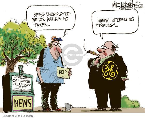 Mike Luckovich  Mike Luckovich's Editorial Cartoons 2011-04-03 business tax