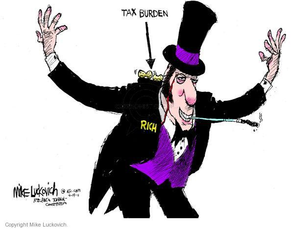 Cartoonist Mike Luckovich  Mike Luckovich's Editorial Cartoons 2011-04-19 tax