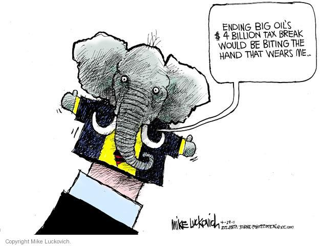 Cartoonist Mike Luckovich  Mike Luckovich's Editorial Cartoons 2011-04-29 tax loophole