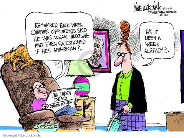Mike Luckovich  Mike Luckovich's Editorial Cartoons 2011-05-05 Obama terrorism