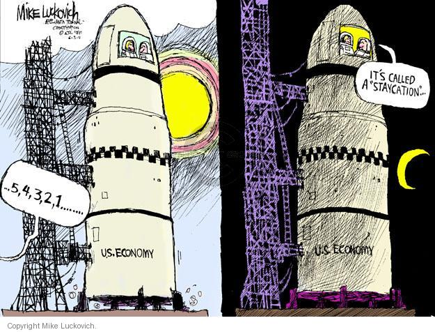 Cartoonist Mike Luckovich  Mike Luckovich's Editorial Cartoons 2011-06-03 economy