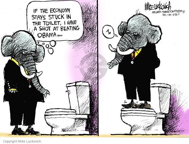 Cartoonist Mike Luckovich  Mike Luckovich's Editorial Cartoons 2011-06-24 recession