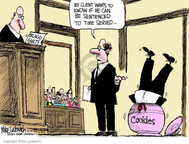 Cartoonist Mike Luckovich  Mike Luckovich's Editorial Cartoons 2011-06-28 courtroom