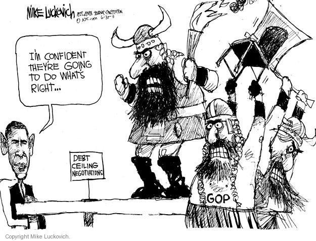Mike Luckovich  Mike Luckovich's Editorial Cartoons 2011-06-30 republican politician