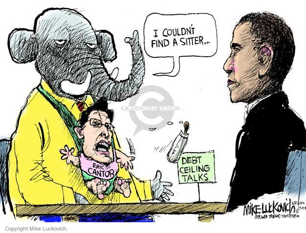 Mike Luckovich  Mike Luckovich's Editorial Cartoons 2011-07-15 Obama republicans