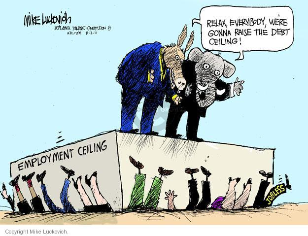 Mike Luckovich  Mike Luckovich's Editorial Cartoons 2011-08-02 unemployed
