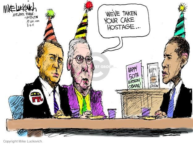 Mike Luckovich  Mike Luckovich's Editorial Cartoons 2011-08-04 Obama Boehner