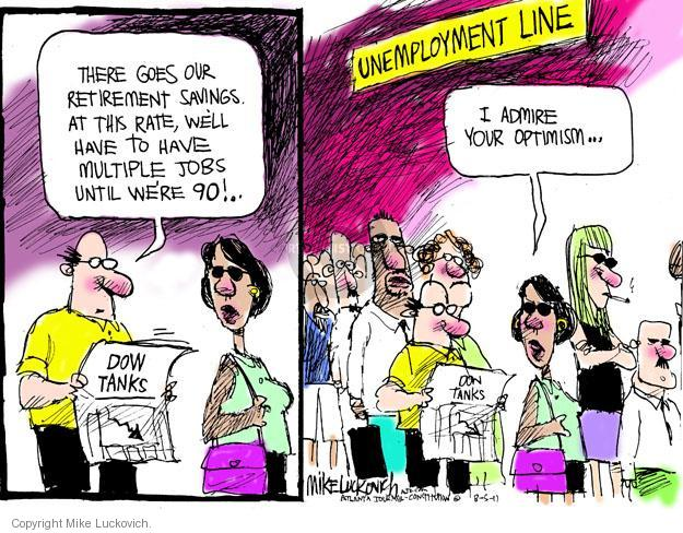 Cartoonist Mike Luckovich  Mike Luckovich's Editorial Cartoons 2011-08-05 line