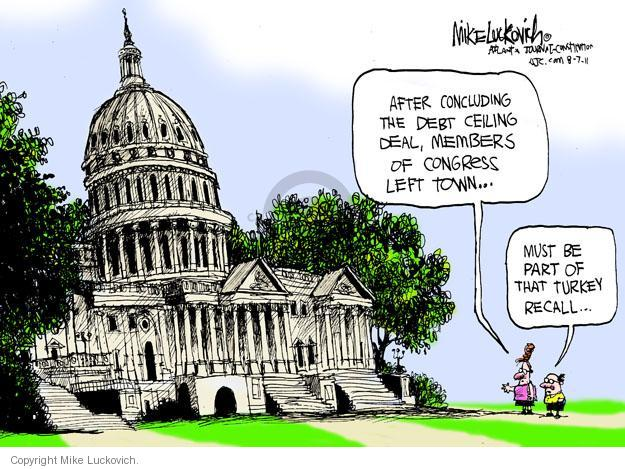 Mike Luckovich  Mike Luckovich's Editorial Cartoons 2011-08-07 federal budget