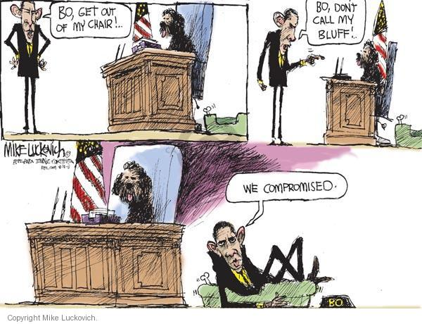 Mike Luckovich  Mike Luckovich's Editorial Cartoons 2011-08-10 compromise