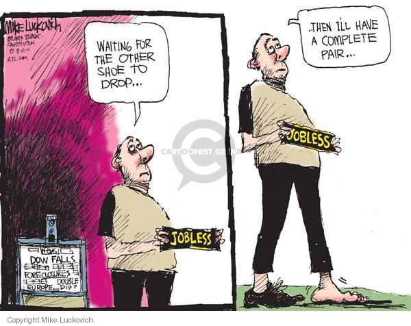 Cartoonist Mike Luckovich  Mike Luckovich's Editorial Cartoons 2011-08-11 recession