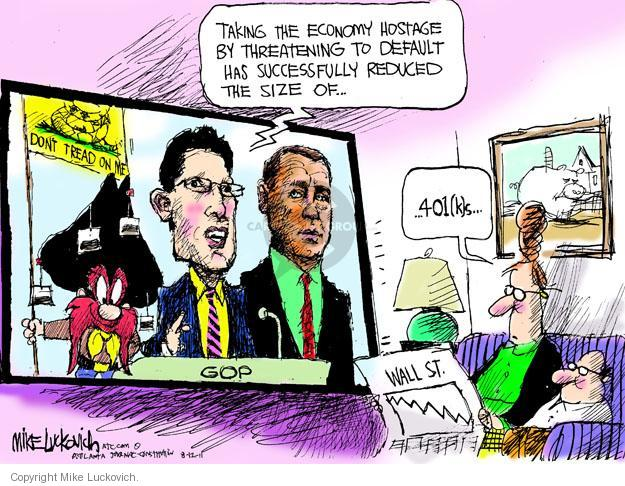 Mike Luckovich  Mike Luckovich's Editorial Cartoons 2011-08-12 stock market