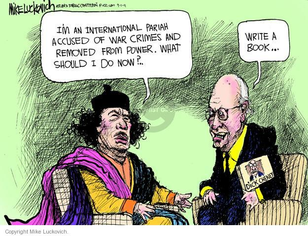 Cartoonist Mike Luckovich  Mike Luckovich's Editorial Cartoons 2011-09-01 Dick Cheney