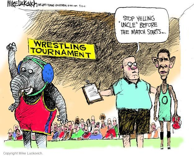 Mike Luckovich  Mike Luckovich's Editorial Cartoons 2011-09-02 Obama republicans
