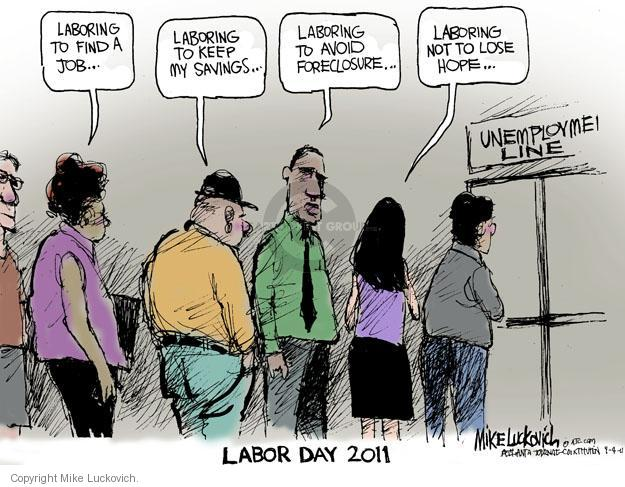 Mike Luckovich  Mike Luckovich's Editorial Cartoons 2011-09-04 labor