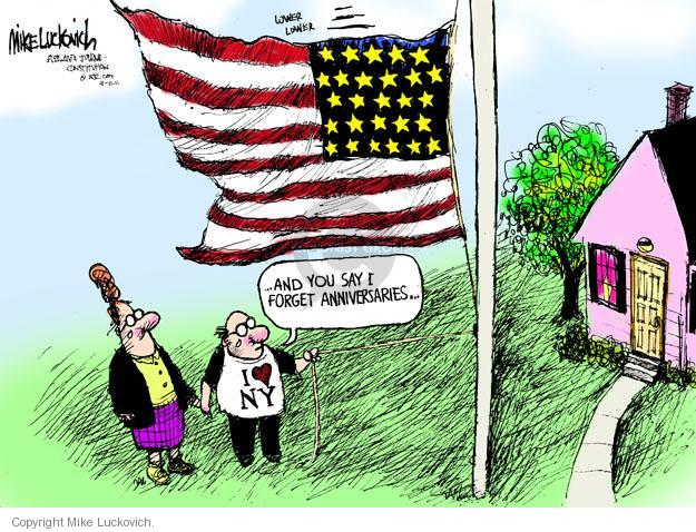 Cartoonist Mike Luckovich  Mike Luckovich's Editorial Cartoons 2011-09-10 September 11, 2001