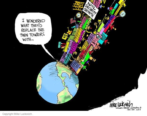 Cartoonist Mike Luckovich  Mike Luckovich's Editorial Cartoons 2011-09-11 September 11, 2001