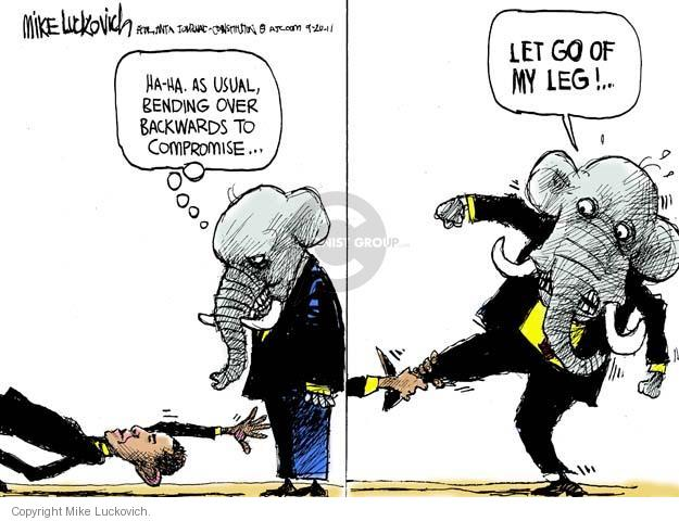 Mike Luckovich  Mike Luckovich's Editorial Cartoons 2011-09-20 compromise