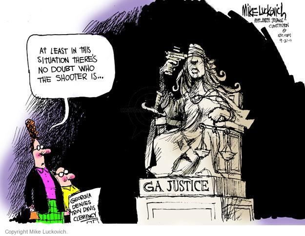 Mike Luckovich  Mike Luckovich's Editorial Cartoons 2011-09-21 shooter