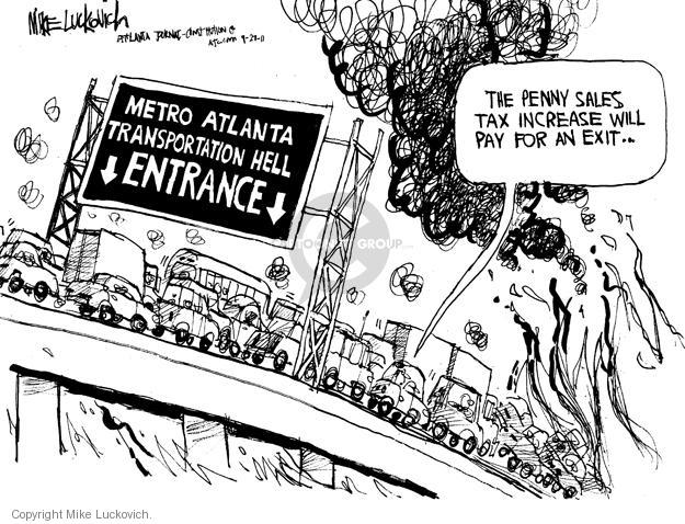 Cartoonist Mike Luckovich  Mike Luckovich's Editorial Cartoons 2011-09-27 sales tax