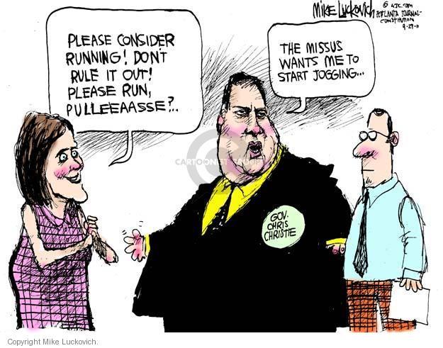 Cartoonist Mike Luckovich  Mike Luckovich's Editorial Cartoons 2011-09-29 Chris