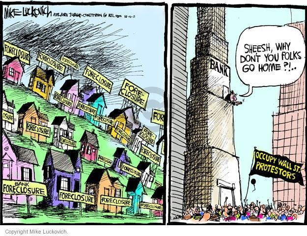 Cartoonist Mike Luckovich  Mike Luckovich's Editorial Cartoons 2011-10-04 bank
