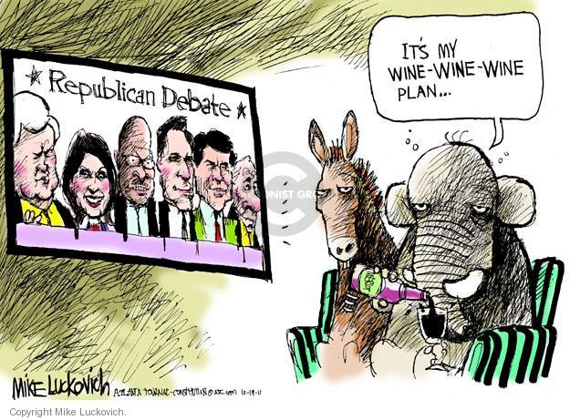 Mike Luckovich  Mike Luckovich's Editorial Cartoons 2011-10-19 republican politician