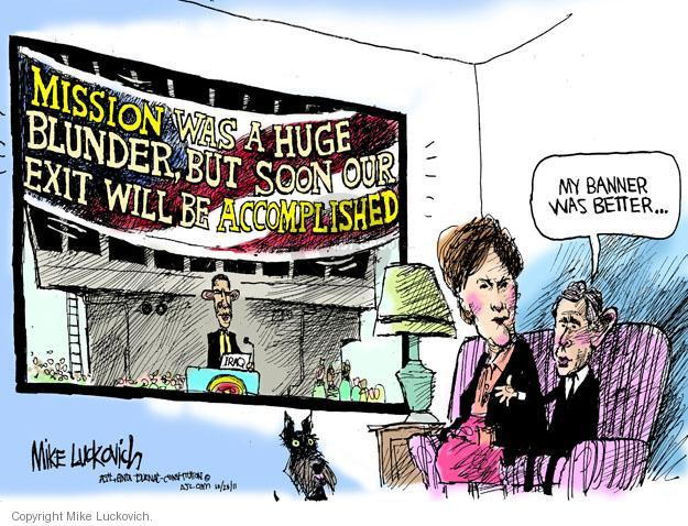 Mike Luckovich  Mike Luckovich's Editorial Cartoons 2011-10-28 former president