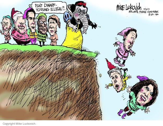 Mike Luckovich  Mike Luckovich's Editorial Cartoons 2011-10-30 cliff
