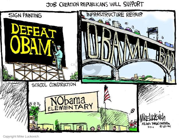 Mike Luckovich  Mike Luckovich's Editorial Cartoons 2011-11-01 Obama republicans