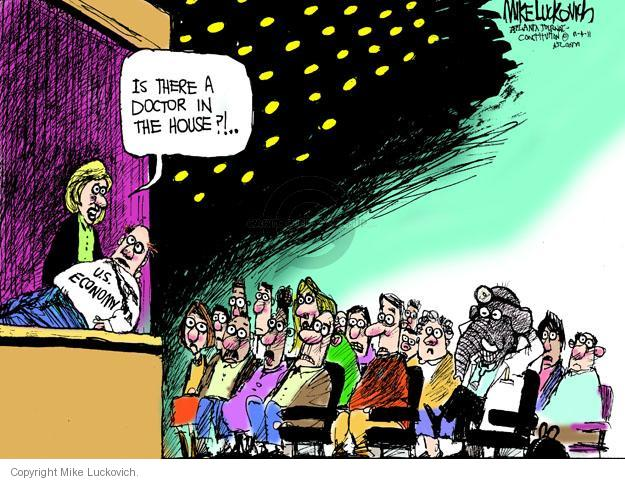 Cartoonist Mike Luckovich  Mike Luckovich's Editorial Cartoons 2011-11-08 recession