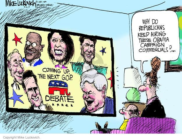 Mike Luckovich  Mike Luckovich's Editorial Cartoons 2011-11-09 Obama republicans
