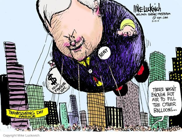 Mike Luckovich  Mike Luckovich's Editorial Cartoons 2011-11-17 parade