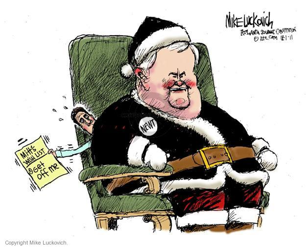 Mike Luckovich  Mike Luckovich's Editorial Cartoons 2011-12-01 republican politician