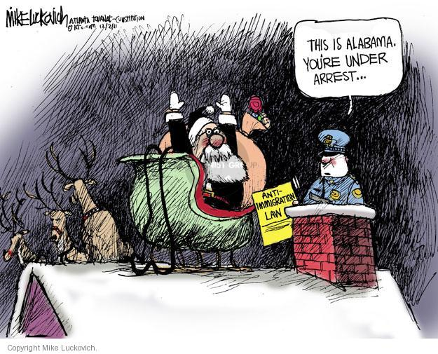 Cartoonist Mike Luckovich  Mike Luckovich's Editorial Cartoons 2011-12-02 cop